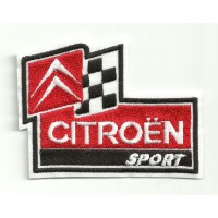 Patch embroidery CITROEN SPORT 3,8CM x 2,8CM