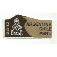 Patch embroidery DAKAR 2012 4,3cm x 2cm
