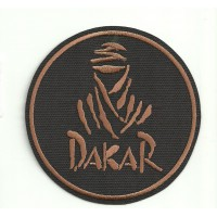 Patch embroidery DAKAR REDONDO NEGRO 3,5cm