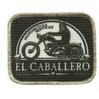 Textile patch EL CABALLERO 9cm x 7.5cm