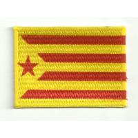 Parche textil y bordado BANDERA CATALUNYA INDEPENDENTISTA AMARILLA 4CM x 3CM