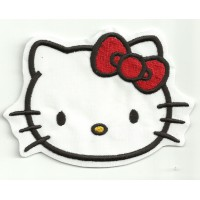 Parche bordado HELLO KITTY 10cm x 7,5cm