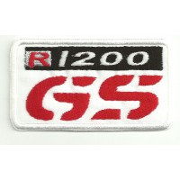 Parche bordado BMW GS R1200 BLANCO 8cm x 4,5cm