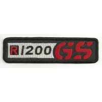 Patch embroidery BMW GS R1200 NEGRO 12cm x 3cm