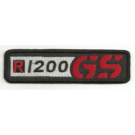 Parche bordado BMW GS R1200 NEGRO 12cm x 3cm