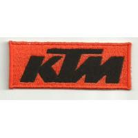 Parche bordado KTM NARANJA NEGRO 4cm x 1,5cm