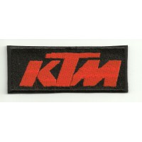 Patch embroidery KTM BLACK ORANGE 8cm x 3cm