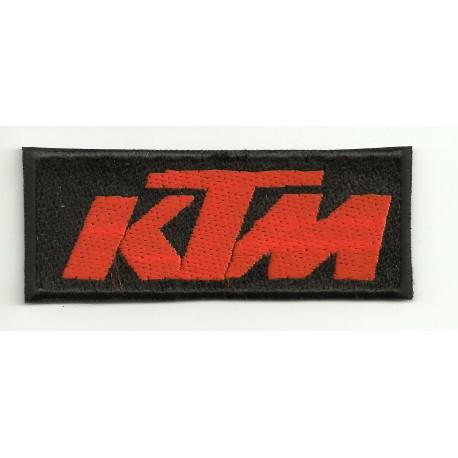 Patch embroidery KTM BLACK ORANGE 8cm x 3cm