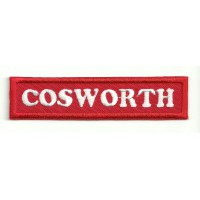 Patch embroidery COSWORTH RED 9cm x 2cm