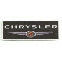 Parche textil CHRYSLER NEGRO 9,5cm x 3,5cm