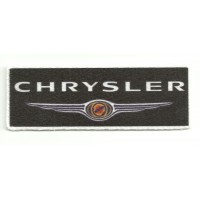 Textile patch CHRYSLER NEGRO 9,5cm x 3,5cm