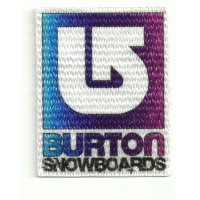 Textile patch BURTON SNOWBOARDS AZUL 5cm x 7cm