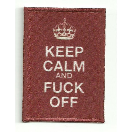 Patch embroidery KEEP CALM FUCK OFF 7cm x 5cm