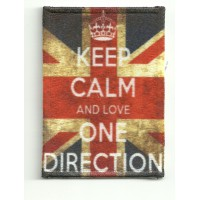 Patch textile and embroidery KEEP CALM ONE DIRECTION 7cm x 5cm
