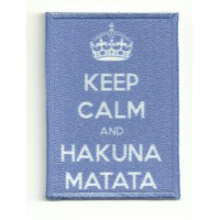 Patch textile and embroidery KEEP CALM HAKUNA MATATA 7cm x 5cm