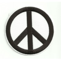Patch embroidery PEACE BLACK 7,5cm