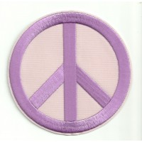 Patch embroidery PEACE PINK 7,5cm