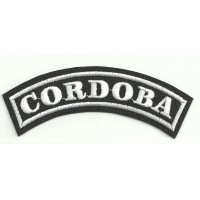 Embroidered Patch CORDOBA 11cm x 4cm