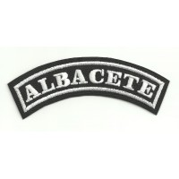 Parche bordado ALBACETE 11cm x 4cm