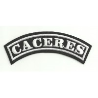 Embroidered Patch CACERES 11cm x 4cm