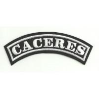 Parche bordado CACERES 15cm x 5,5cm