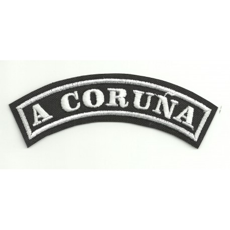 Embroidered Patch A CORUÑA 11cm x 4cm