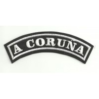 Embroidered Patch A CORUÑA 15cm x 5,5cm
