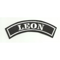 Embroidered Patch LEON 25cm x 7cm