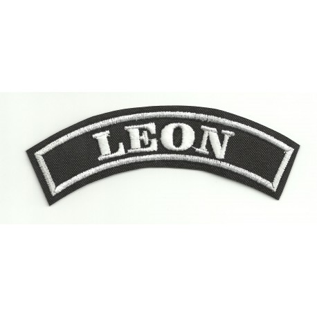 Embroidered Patch LEON 11cm x 4cm