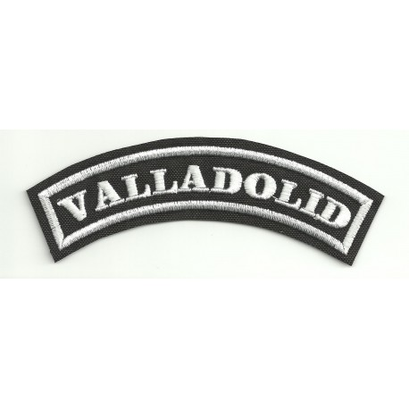 Embroidered Patch VALLADOLID 15cm x 5,5cm