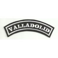 Embroidered Patch VALLADOLID 11cm x 4cm