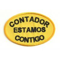 Parche bordado CONTADOR ESTAMOS CONTIGO 9cm x 6cm