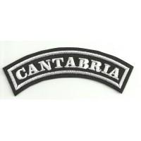 Parche bordado CANTABRIA 11cm x 4cm