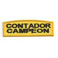 Embroidery patch CONTADOR CAMPEON 9cm x 3cm