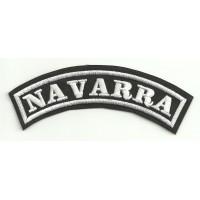 Parche bordado NAVARRA 25cm x 7cm