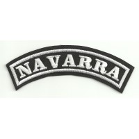 Embroidered Patch NAVARRA 11cm x 4cm
