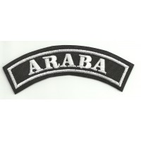 Embroidered Patch ARABA 11cm x 4cm