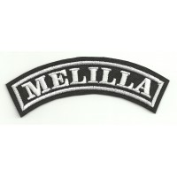 Embroidered Patch MELILLA 11cm x 4cm
