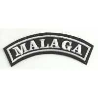 Embroidered Patch MALAGA 11cm x 4cm