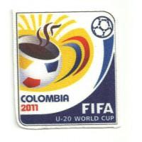 Parche textil COLOMBIA 2011 6,3cm x 7cm
