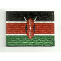 Parche bordado y textil KENYA 4cm x 3cm