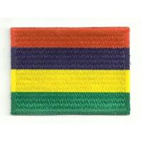 Parche bordado y textil MAURICIO 4cm x 3cm