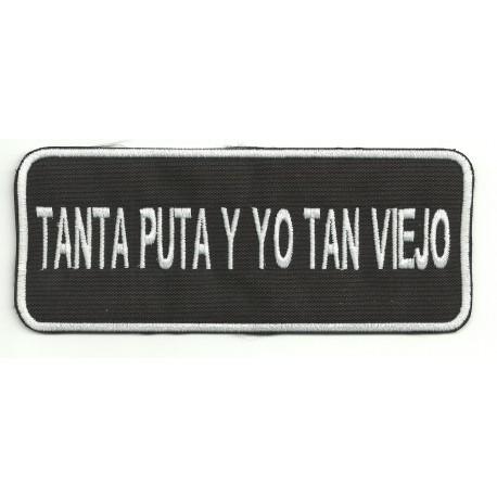 Patch embroidery TANTA PUTA 14cm x 5,5cm
