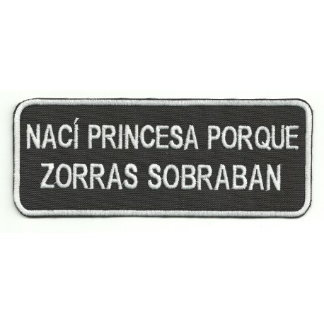 Patch embroidery NACI PRINCESA 14cm x 5,5cm