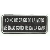 Parche bordado YO NO ME ME CAIGO 14cm x 5,5cm