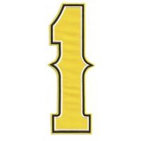 Parche bordado NUMERO 1 4,5cm X 12,5cm