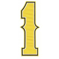 Parche bordado NUMERO 1 2,3cm X 6,5cm
