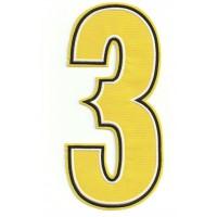 Parche bordado NUMERO 3 3cm X 6,5cm