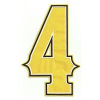 Parche bordado NUMERO 4 3,5cm X 6,5cm