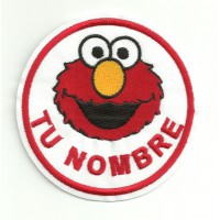 Embroidery patch ELMO YOUR NAME 7,5cm